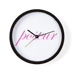 Poseur Wall Clock