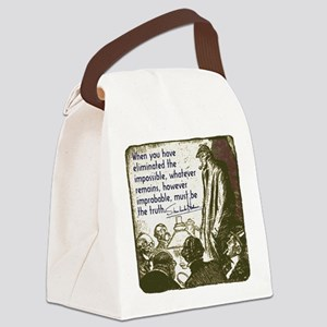 sherlockquote_truthwhite Canvas Lunch Bag
