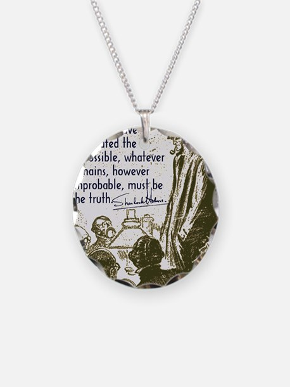 sherlockquote_truthwhite Necklace