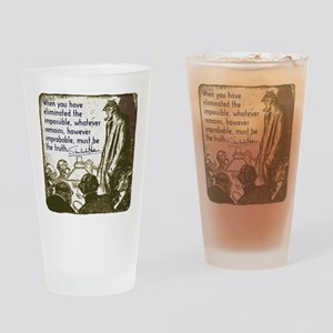 sherlockquote_truthwhite Drinking Glass