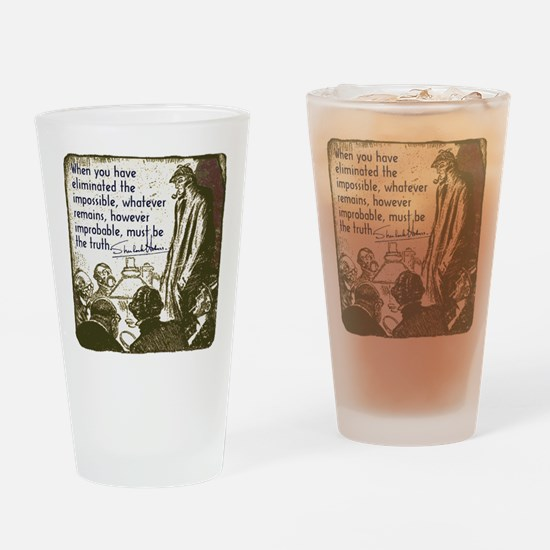 sherlockquote_truthwhite Drinking Glass