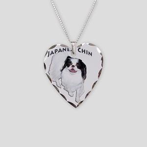Dragon-BlackLet Necklace Heart Charm