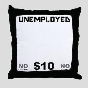 KICK-FOR-BLACK Throw Pillow