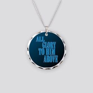 All Glory to Him Circle Necklace Circle Charm