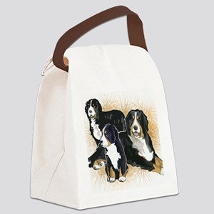 bernese mountain dogs2  Canvas Lunch Bag