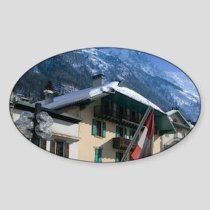 BLANC: Along Quai d'Arve / Wintere) Sticker (Oval)