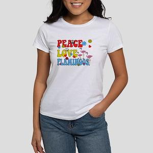 PEACE LOVE FLAMINGOS T-Shirt