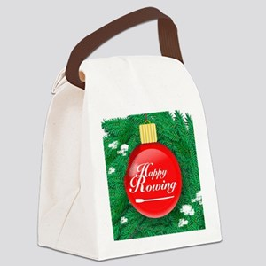 ornament_redball Canvas Lunch Bag