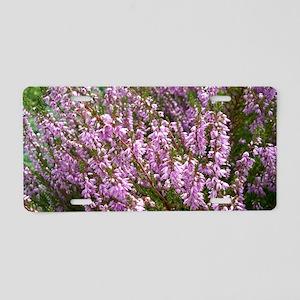 purple heather - wide versi Aluminum License Plate