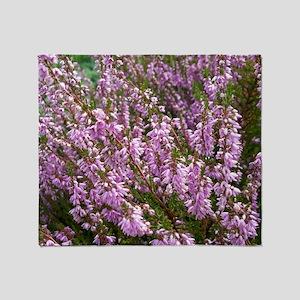 purple heather - wide version Throw Blanket