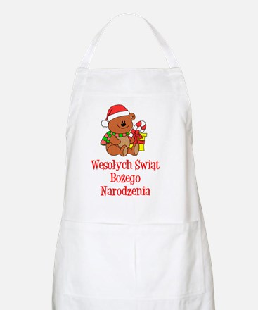 Polish Chrismas Baby Shirt Apron