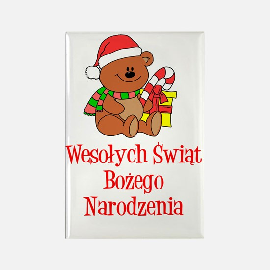 Polish Christmas Stocking Rectangle Magnet
