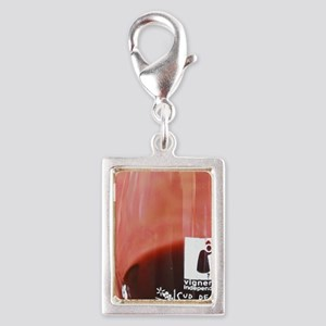 Glass embossed with Vigneron Silver Portrait Charm