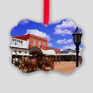Tombstone Street Picture Ornament