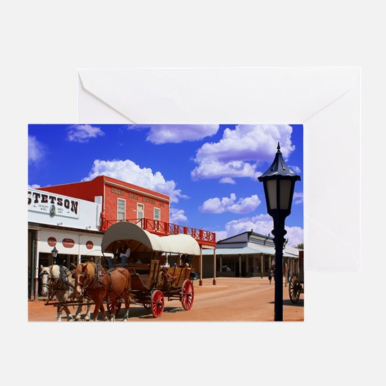 Tombstone Street Greeting Card