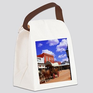 Tombstone Street Canvas Lunch Bag