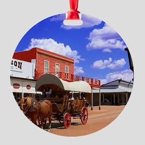 Tombstone Street Round Ornament