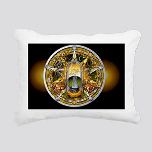 Samhain Pentacle - Banne Rectangular Canvas Pillow
