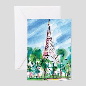 AWP_CafePress_TourEiffel_10x10 Journ Greeting Card