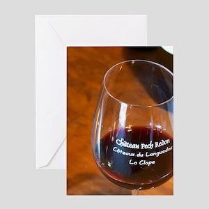 Coteaux du Languedoc La Clape. Chate Greeting Card