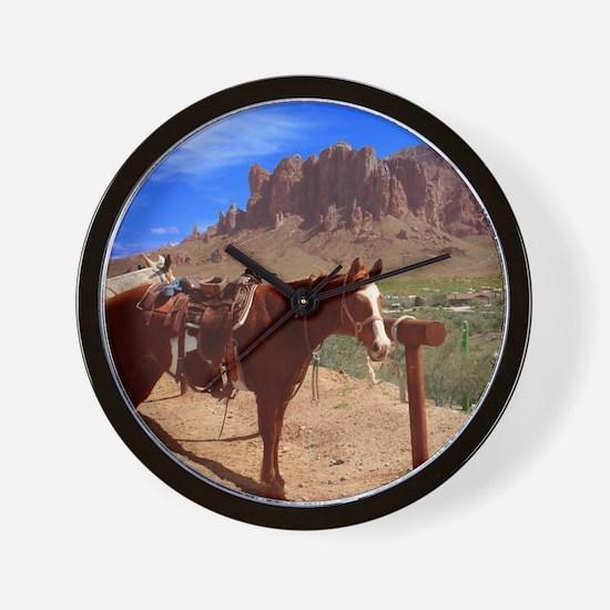 Saddled Horse Wall Clock