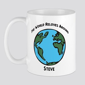 Revolves around Steve Mug