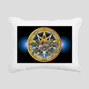 Yule Pentacle - Banner Rectangular Canvas Pillow
