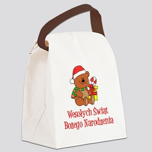 Polish Christmas Ornament Canvas Lunch Bag
