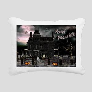 haunted_house_car_magnet Rectangular Canvas Pillow