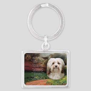 godmadedogs(oval) Landscape Keychain