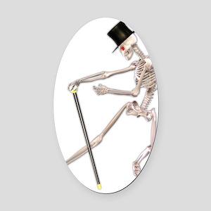 dancingskeleton Oval Car Magnet