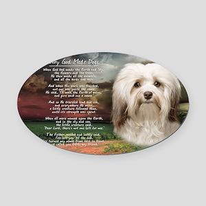 godmadedogs(license) Oval Car Magnet