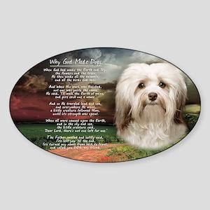 godmadedogs(license) Sticker (Oval)