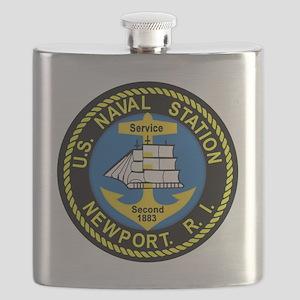 NEWPORT US Naval Station Rhode Island Milita Flask