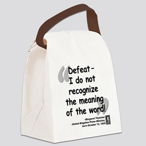 Thatcher Defeat Quote Canvas Lunch Bag