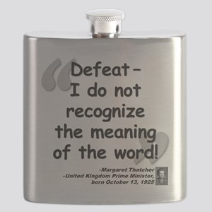 Thatcher Defeat Quote Flask