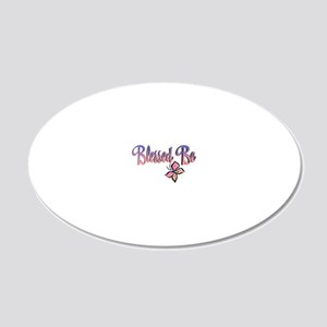 BlessedBe-102011 20x12 Oval Wall Decal