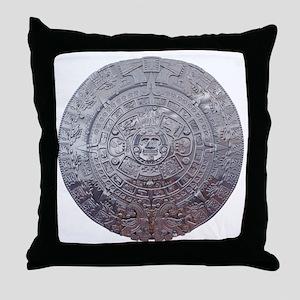Modern Mayan Calender Throw Pillow