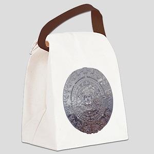 Modern Mayan Calender Canvas Lunch Bag