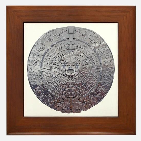 Modern Mayan Calender Framed Tile