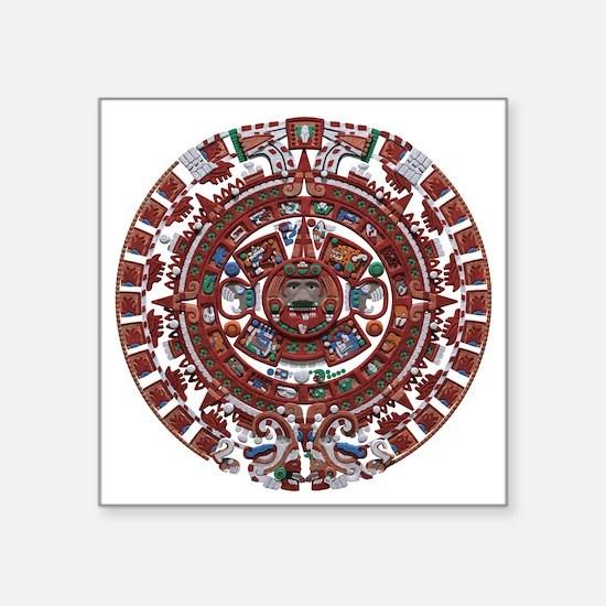 """Mayan Calender Square Sticker 3"""" x 3"""""""