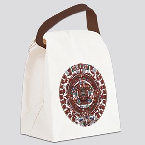 Mayan Calender Canvas Lunch Bag