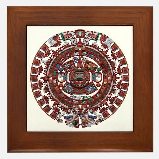 Mayan Calender Framed Tile