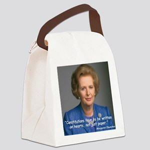 Thatcher Hearts Quote Color Canvas Lunch Bag