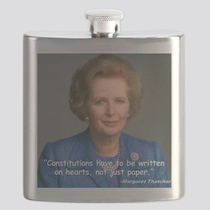 Thatcher Hearts Quote Color Flask