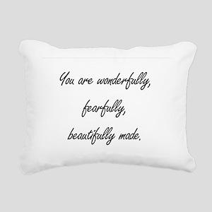 wonderfully made Rectangular Canvas Pillow