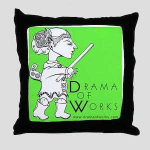 DOWlogosquare Throw Pillow