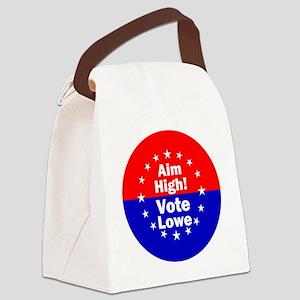 Aim High Vote Lowe rnd Canvas Lunch Bag