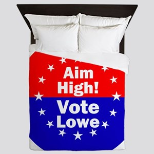 Aim High Vote Lowe rnd Queen Duvet