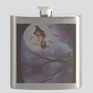 little_witch_framed_panel_print_small Flask
